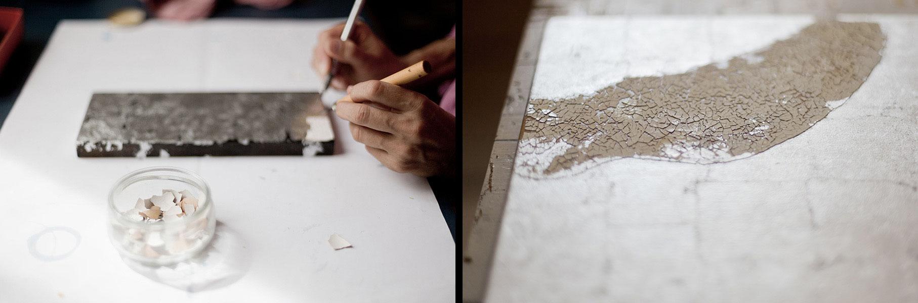 artiste-laqueur-dominique-humbert-savoir faire coquille
